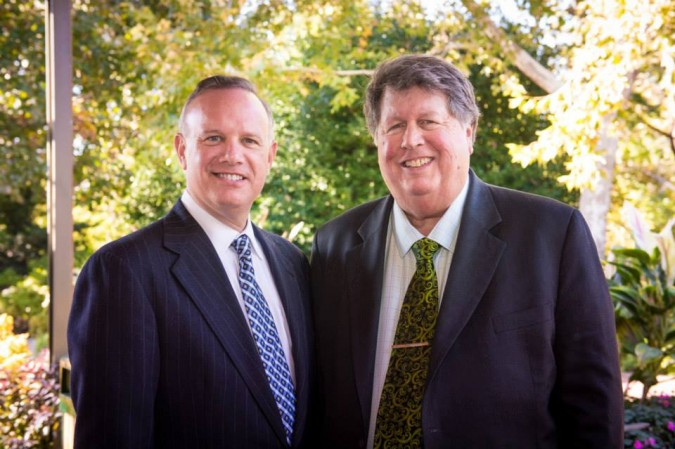 Dave Perry-Miller and Ebby CFO Ron Burgert (Photo: Aggie Brooks)