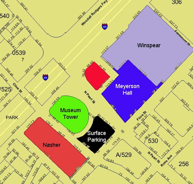 Museum Tower New Neighbor Map
