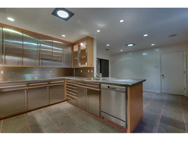 Asko Dishwasher, Maple and stainless steel cabinetry. Accent lig