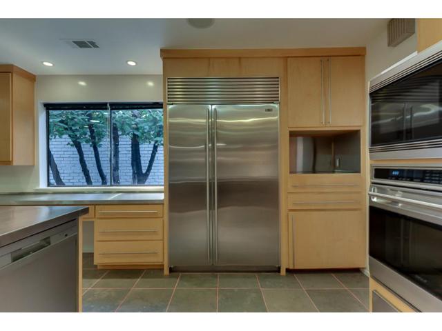 Sub-Zero side-by-side refrigerator-freezer.