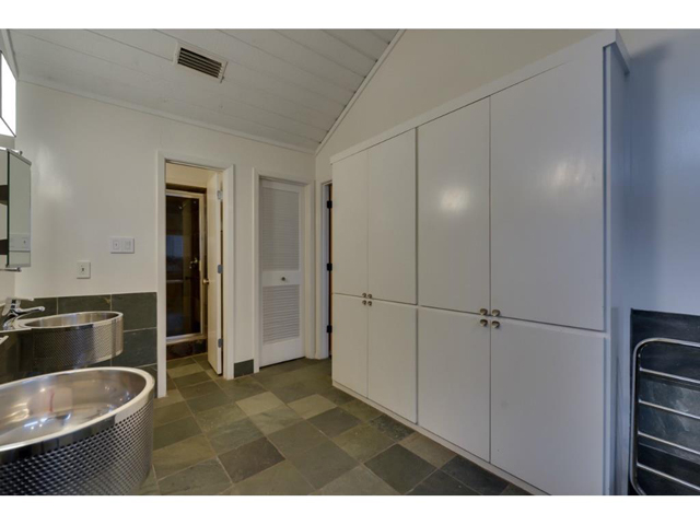 Slate Shower, Walk-though closet with built-in dressers.
