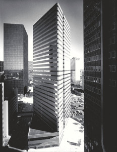 Patriot Tower upon completion in 1979 (Photo: Pei Cobb Freed Partners)