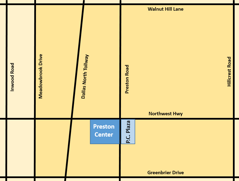 Preston Center Task Force Map
