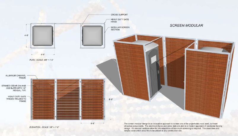 First prize in the 'Sitting Pretty Porta Potty Screen Contest' goes to All photos: Sardone Construction