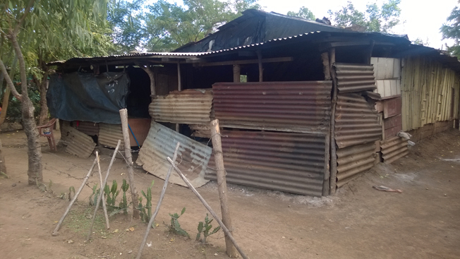 Josefa and her family were living in an unsafe structure made of salvaged wood and metal. (Photo: Giveback Homes)