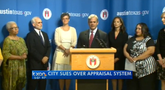 On Monday, the City of Austin filed suit against the Texas Comptroller's Office over the state's ad-valorem tax system.