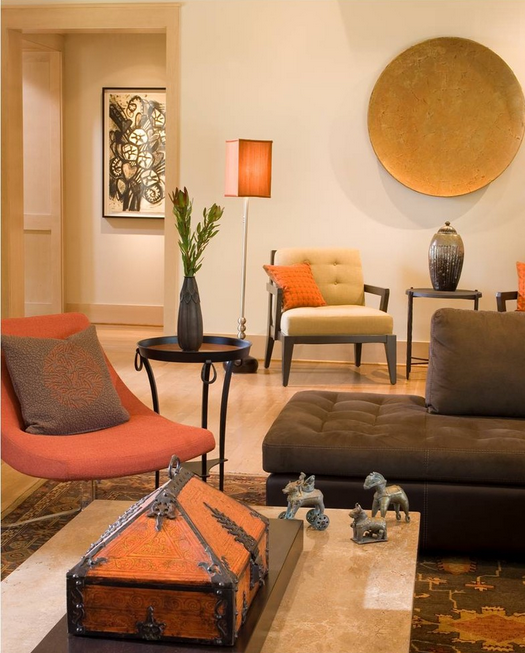 A Texas Modern family room, designed by Margaret Chambers.