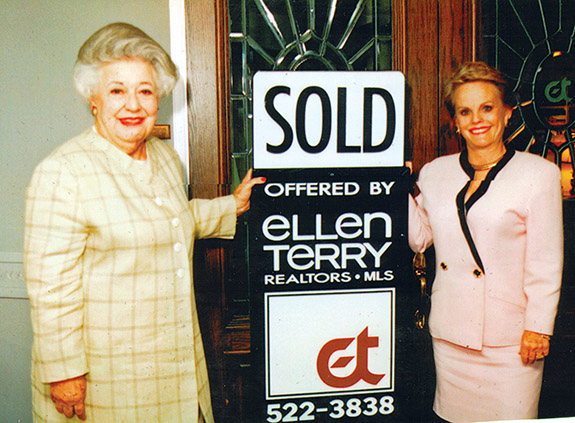 Ebby Halliday with Ellen Terry after Ebby bought up Terry's brokerage in 1995. (Photo: Ebby Halliday Realtors)
