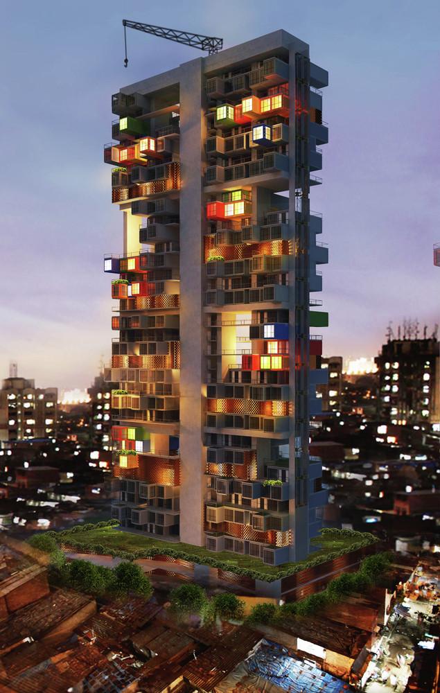 Mumbai Shipping Container building