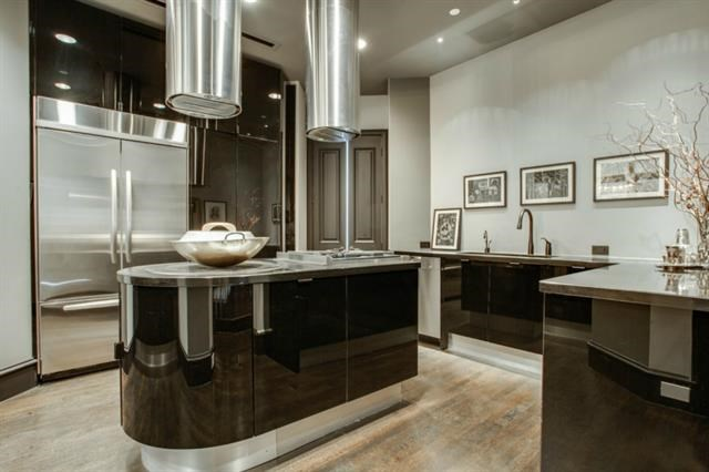 Sleek Italian Kitchen off the Formal Dining Room