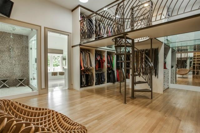 Definition of a serious closet? Having a staircase!