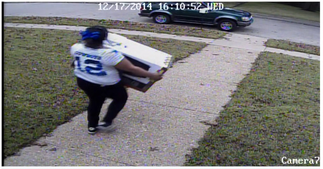 Photo: Dallas Police This porch thief last year was caught thanks to security cameras.