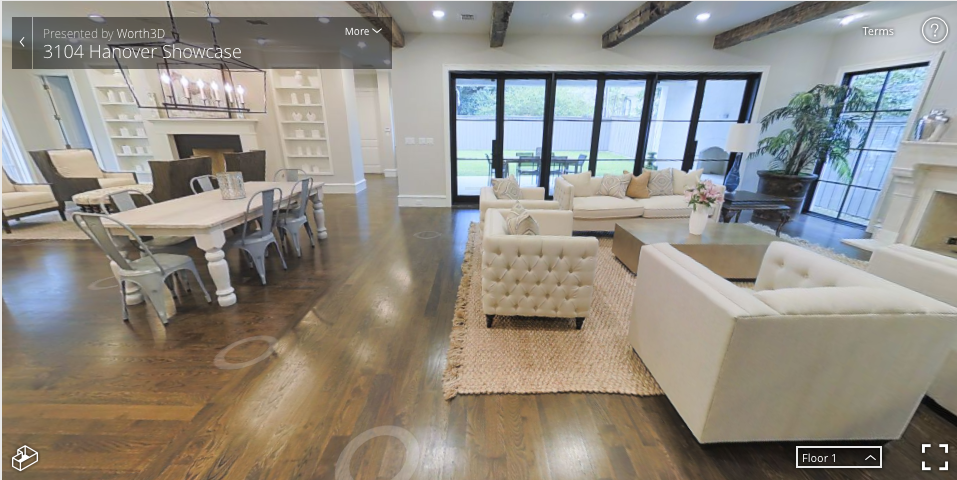 """A 3D showcase of a property allows potential buyers to """"walk through"""" a home, even from the other side of the world. Photo: Worth3D"""