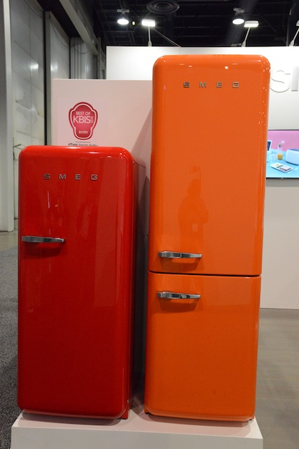 Retro refrigerator options from Smeg (Photo: Lisa Stewart Photography)