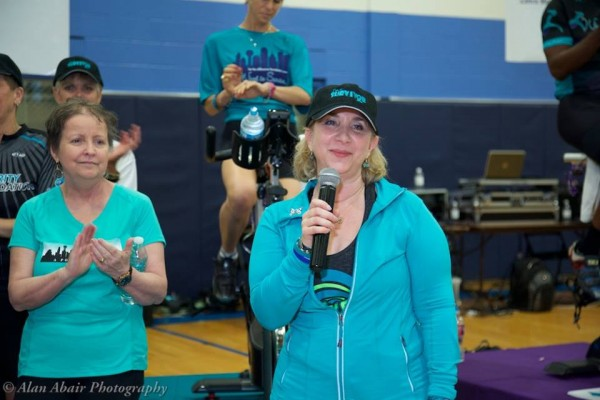 Julie Shrell with mic
