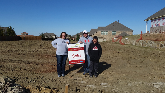 Pete Amays is building a new home in Prosper for his growing family.