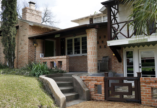 Photos showing some of the original details of this 1940 home by noted architect Charles Dilbeck, located at 5106 Milam Street in the Cochran Heights neighborhood of Dallas, Texas. Taken March 17, 2016. (Photo © Michael Hamtil)