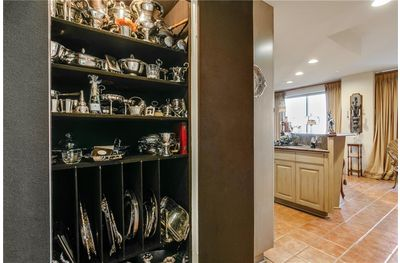 Talk about entertaining in style, a silver closet sure saves on the manicure