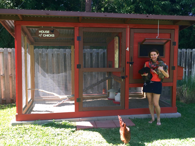 "It took Tina Westmoreland five years to convince her husband, Matt, to build their ""House of Chicks."" See it up close on May 1 during the coop tour. (Courtesy Photo)"