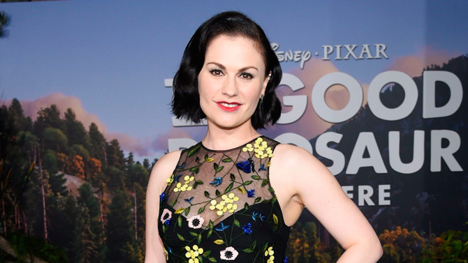 Mandatory Credit: Photo by Buckner/Variety/REX/Shutterstock (5387093bc) Anna Paquin 'The Good Dinosaur' film premiere, Los Angeles, America - 17 Nov 2015 WEARING MONIQUE LHUILLIER