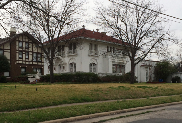T.A. Manning Home today; First building permit in the area