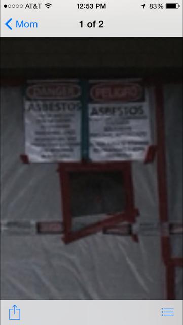 Town House Row asbestos