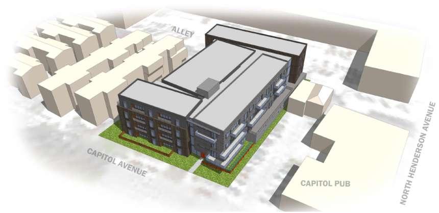 Preliminary plans for Larkspur's Capital Flats show