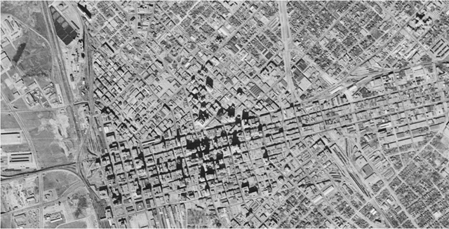 Dallas Aerial from 1953 (Institute for Quality Communities at the University of Oklahoma)