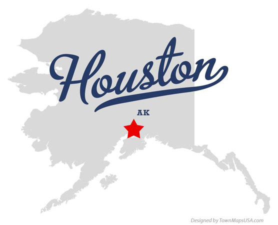 Houston AK Map