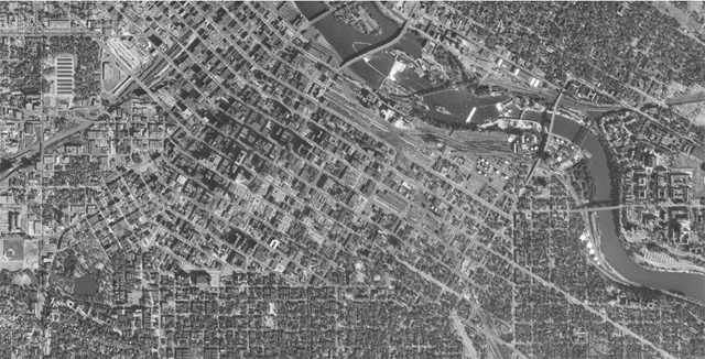 Minneapolis in 1953 (Institute for Quality Communities at the University of Oklahoma)