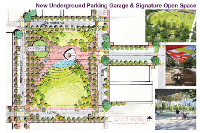 Signature element that accelerates refurbishment of entire area should be NOW, not far off future.