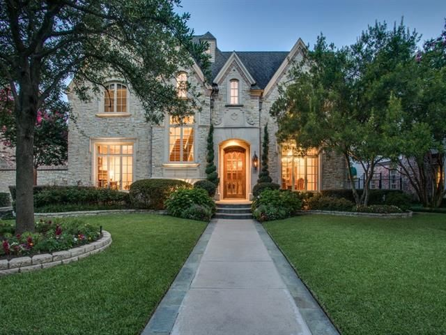 The French Traditional at 4429 Winsor Pkwy. in University Park has an estate-like feel, with 6,526 square feet on three stories.