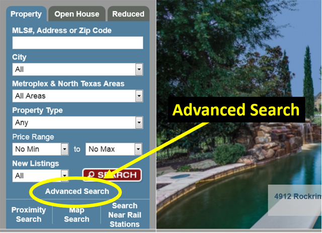 Advanced search provides the data granularity for Advanced home search