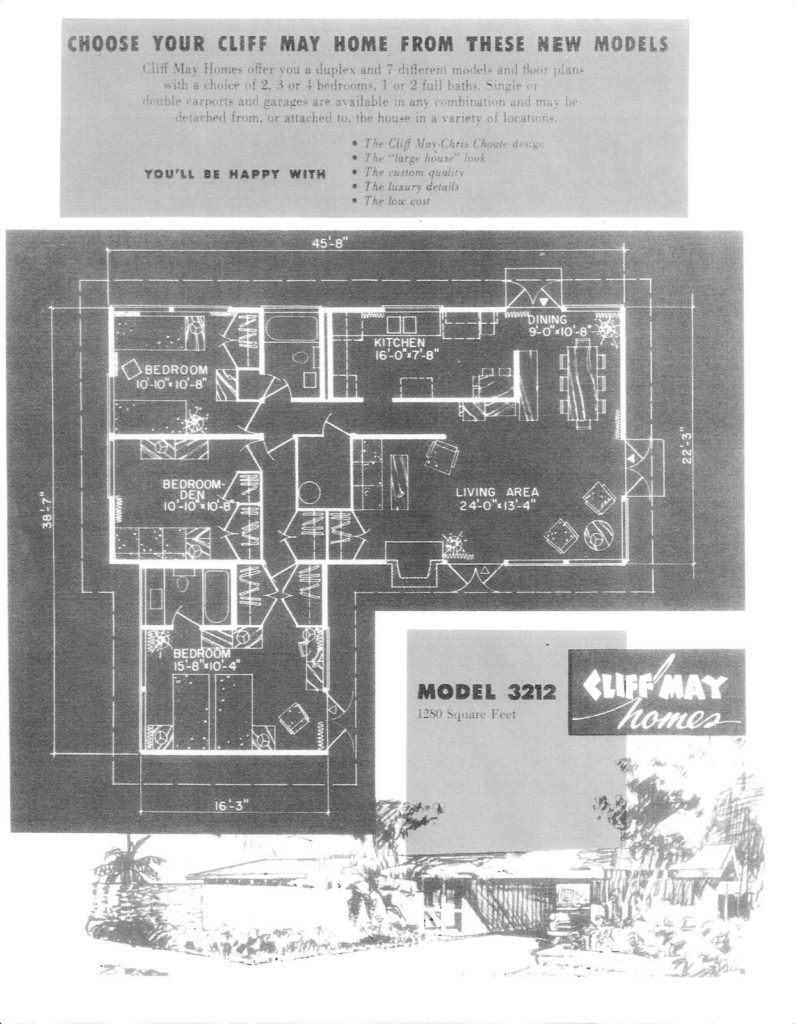 Cliff May Homes floorplan brochure