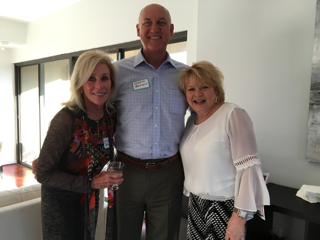 Unit 3C agent Tammy Mclaine of Keller Williams along with serial renovators Greg and Susan Batan