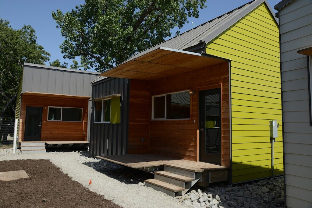 Exterior of tiny home at The Cottages at Hickory Crossing