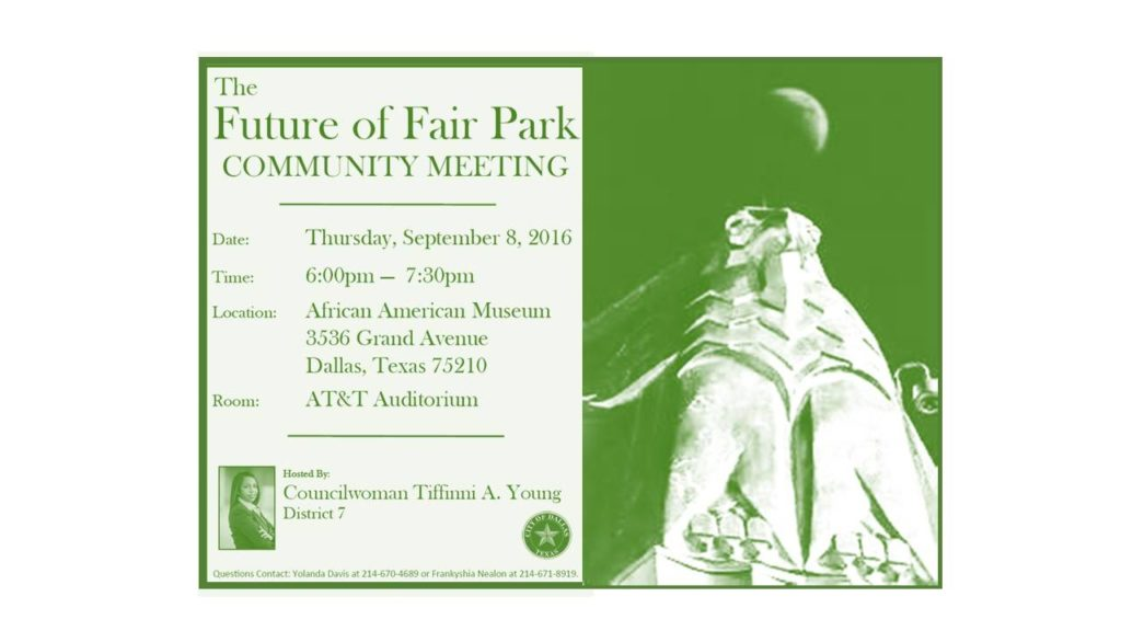 Future of Fair park mtg