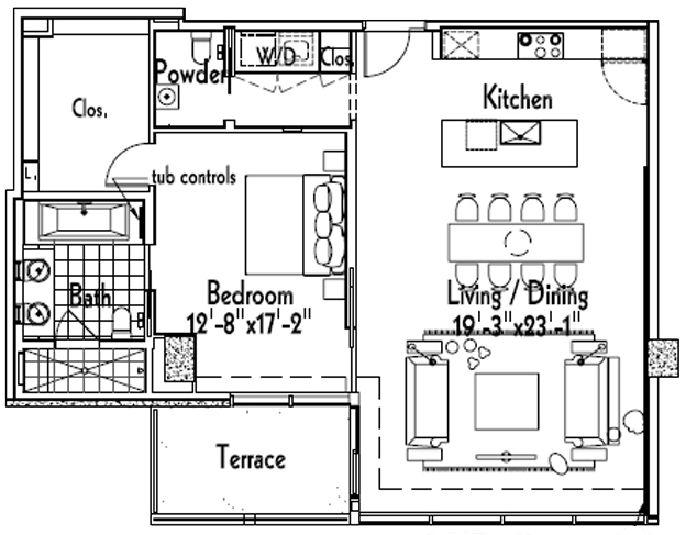 "This House 1-Bedroom Proves ""Thick"" Doesn't Always Mean Big"