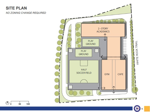 Lake Highlands WHITEROCKELEMENTARY SITE PLAN