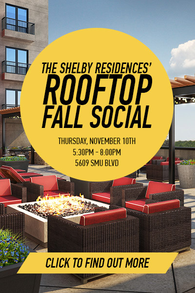 The Shelby Residences Rooftop Fall Social November 10