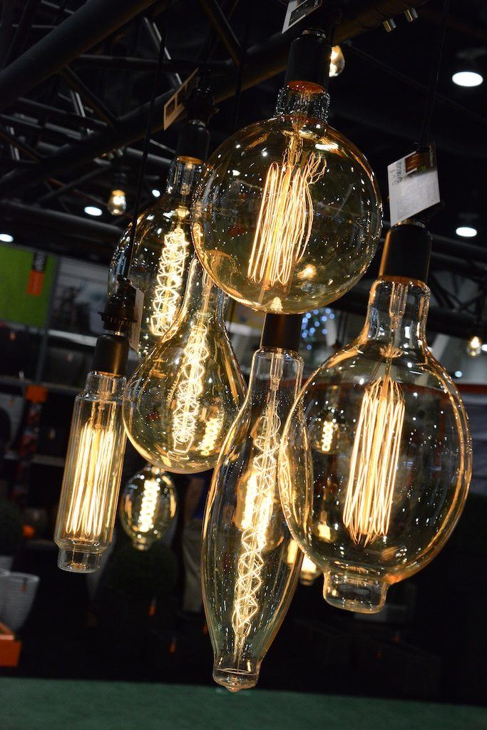 Outdoor rated bulbs we found at the National Hardware Show Photo: Lisa Stewart Photography