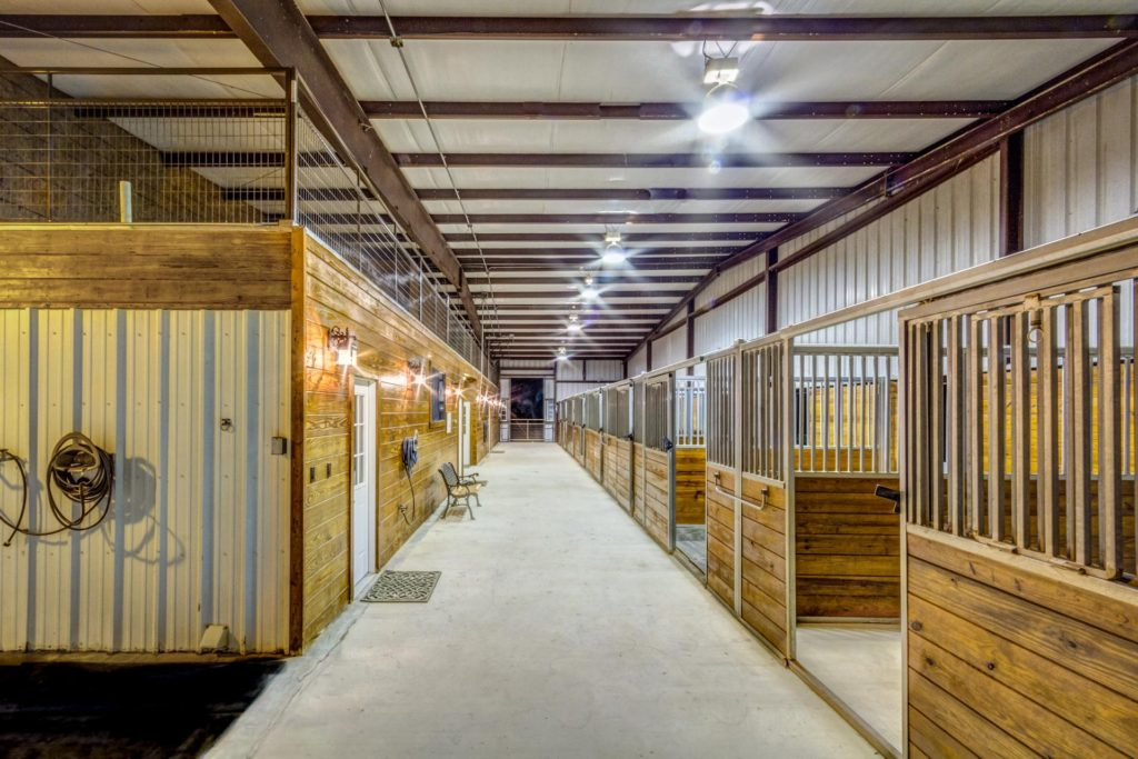 Immaculately clean stables.