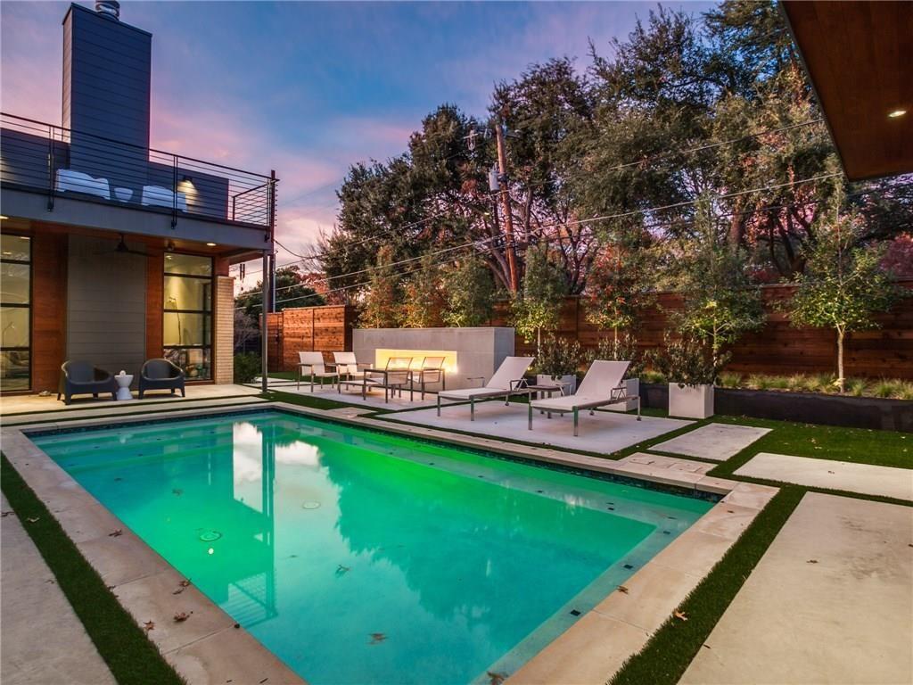 Extraordinary Mockingbird Park Contemporary 5351 Livingston Avenue pool and view to balcony.ashx