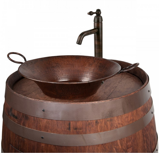 Wine Barrel Sink 1