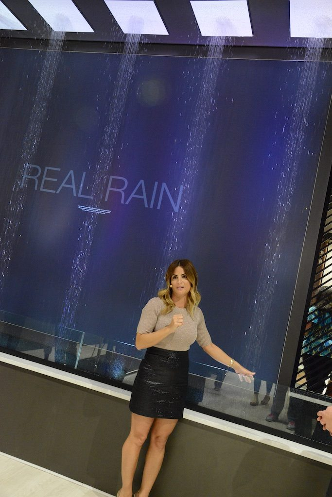The Kohler Real Rain system at KBIS Photo: Lisa Stewart Photography
