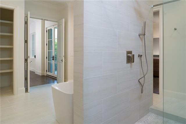 University Park French Contemporary master bath shower 3r