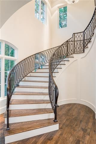 University Park French Contemporary staircase-m1r