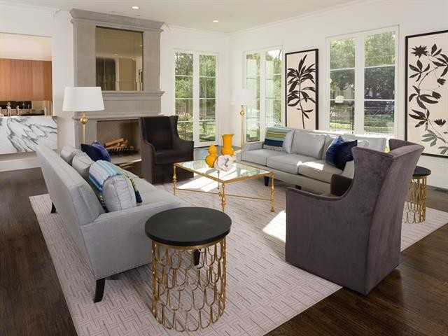 6University Park French Contemporary living overview