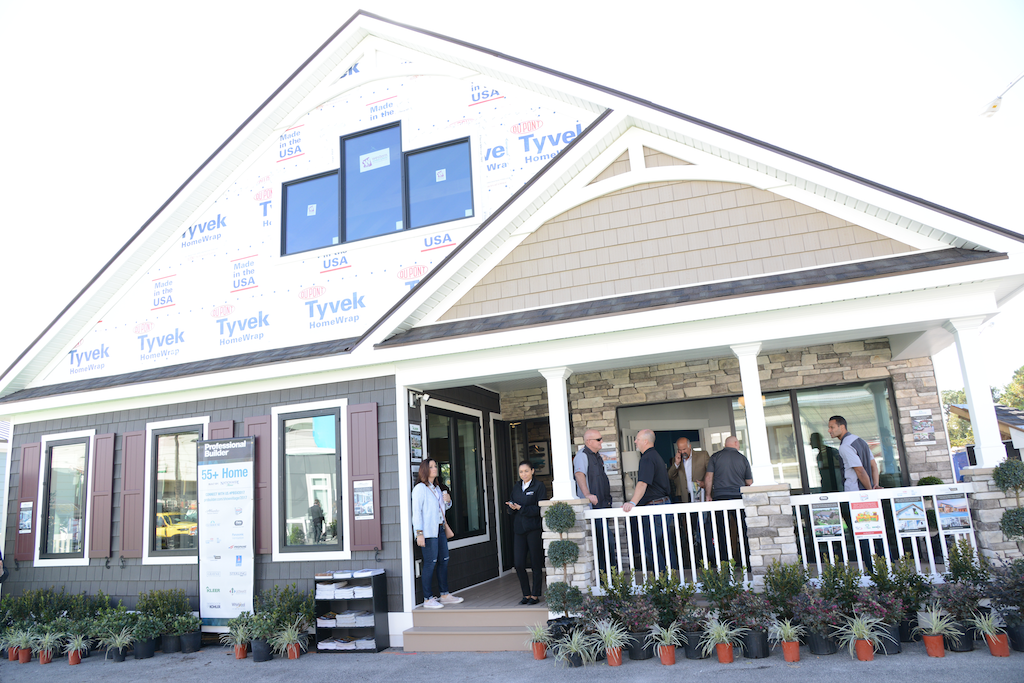 One of the six factory built homes on display by Cavco Industries Photo: Lisa Stewart Photography