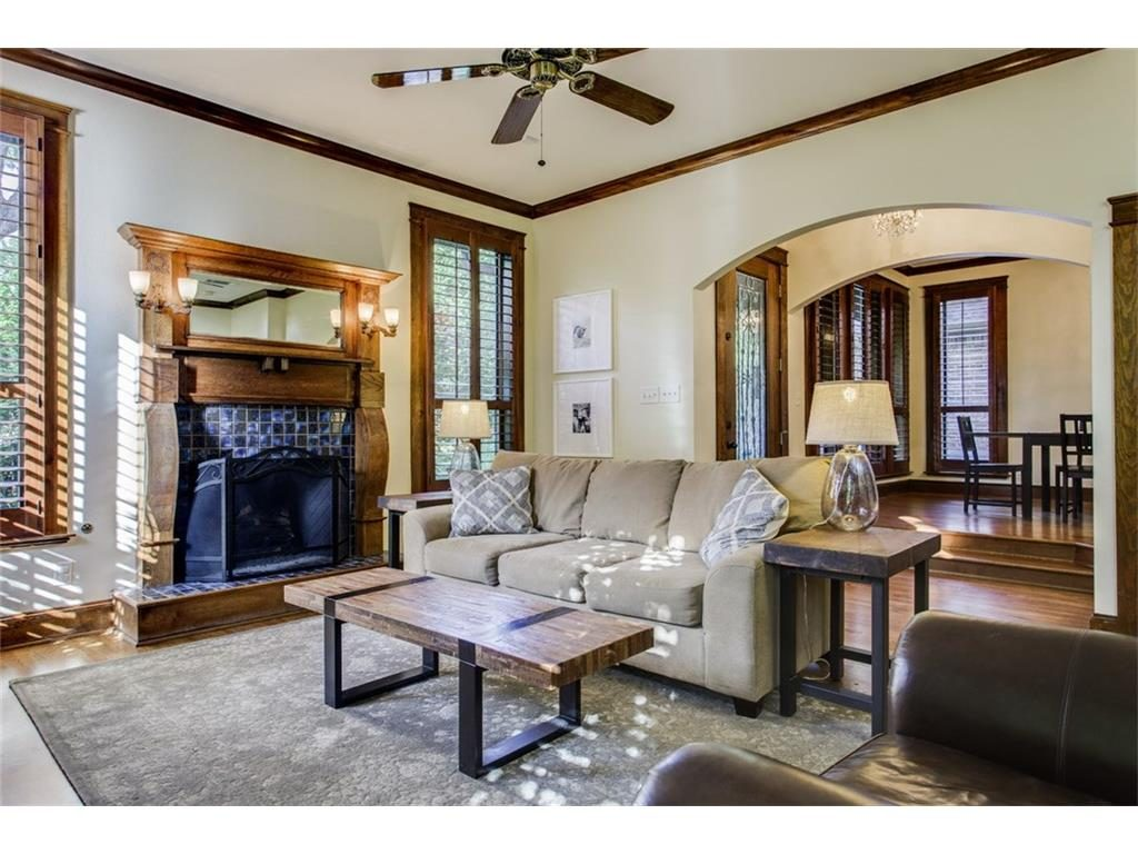 Secluded Hollywood Heights Tudor fireplace ashx